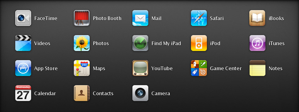apple ipad 2 apps iPad 2 Specs