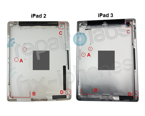 ipad3 vs ipad2 both rear pics New iPad Rumours
